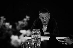 """Олег Меньшиков на первой читке спектакля """"Счастливчики"""""""